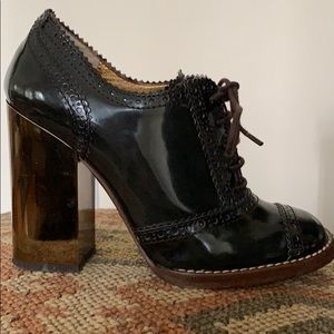 Dolce and Gabbana square heel oxfords